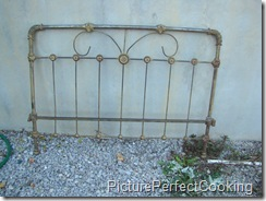 1Metal Bedframe Before