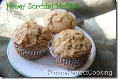 Honey Zucchini Muffins