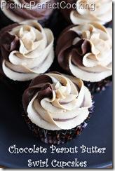 Chocolate Peanut Butter Swirl Cupcakes