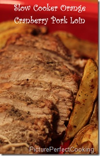 Slow Cooker Orange Cranberry Pork Loin