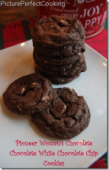 Pioneer Woman Chocolate Chocolate White Chocolate Chip Cookies