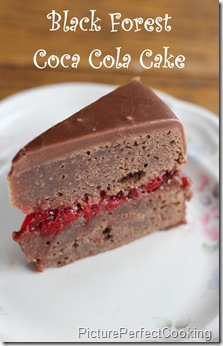 Black Forest Coca Cola Cake Slice