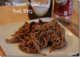 Dr. Pepper Pulled Pork BBQ