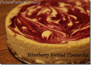 Strawberry Swirled Cheesecake
