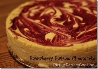 Strawberry Swirled Cheesecake