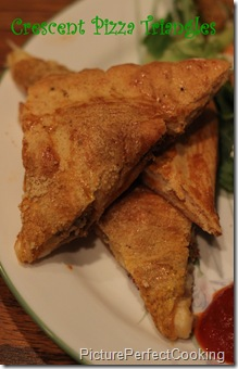 Crescent Pizza Triangles