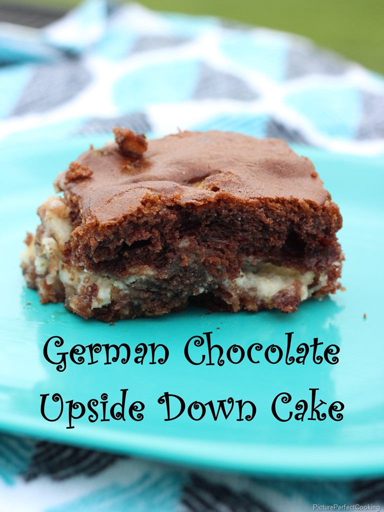German Chocolate Upside Down Cake | Picture Perfect Cooking