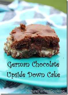 German Chocolate Upside Down Cake 1