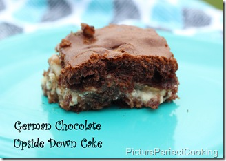 German Chocolate Upside Down Cake 2