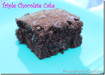 Triple Chocolate Cake 1
