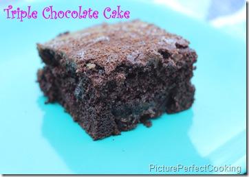 Triple Chocolate Cake 1