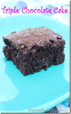Triple Chocolate Cake 2