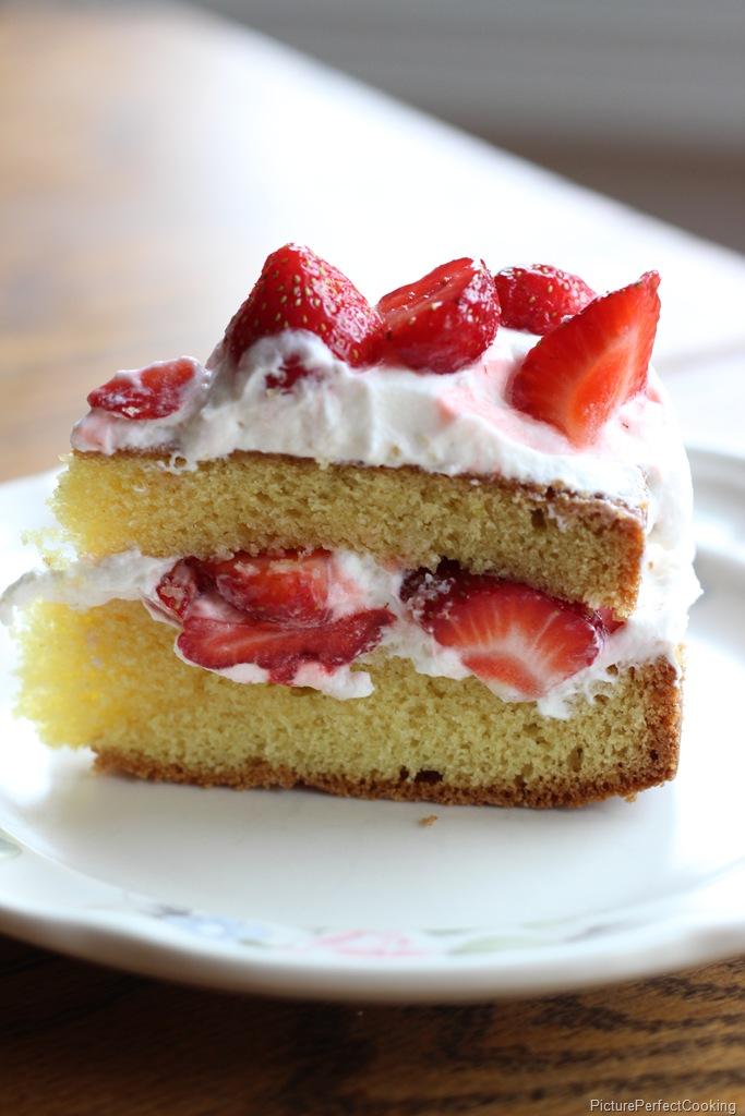 Now this is summer on a plate! Strawberry Country Cake from Picture Perfect Cooking