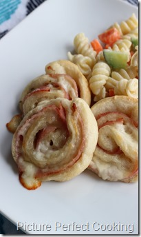 Ranch Ham & Cheese Pinwheels 1
